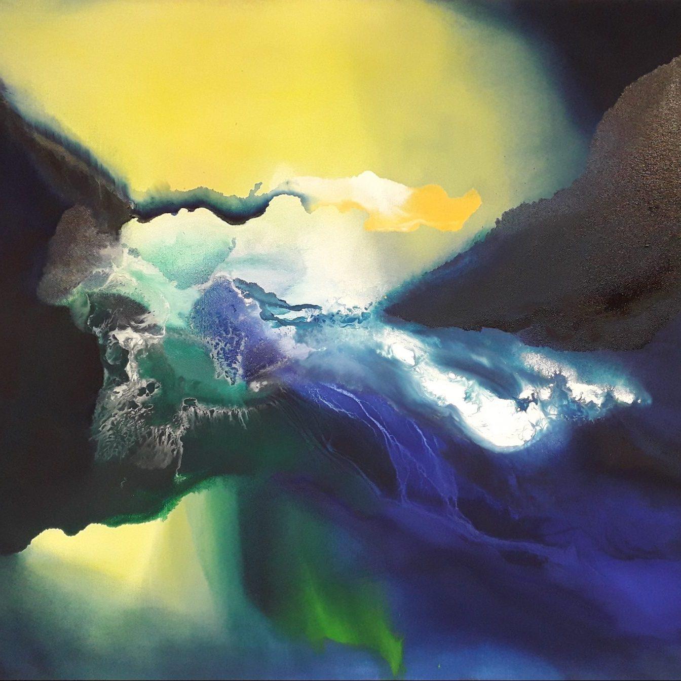 Brook 120x80cm oil on canvas by Kathryn Stevens