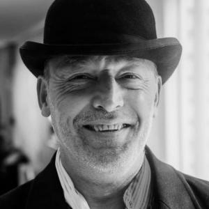 Man wearing a bowler hat