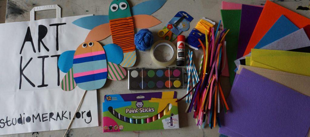 Studio Meraki art kit tote bag