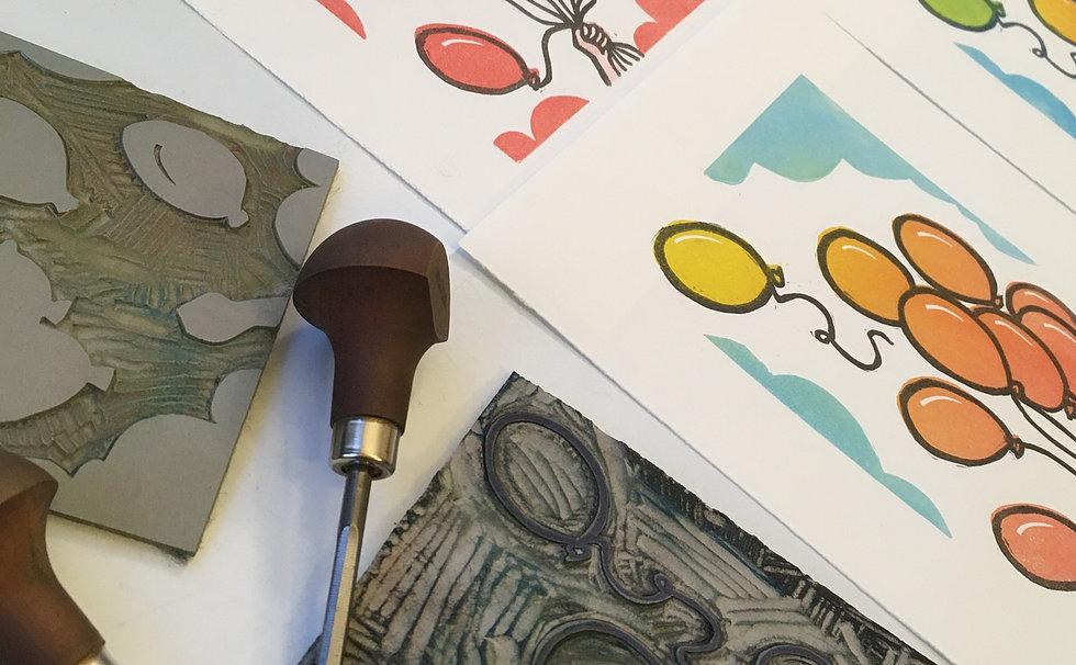 Bristol Print Room Lino Printing Close Up