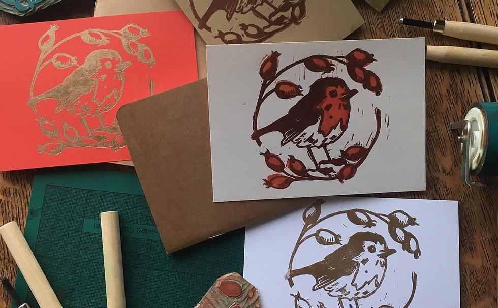 Bristol Print Room Christmas Lino