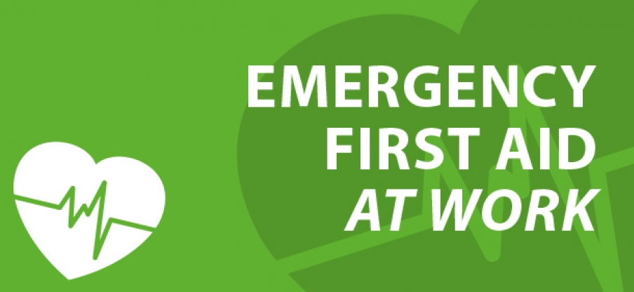 Emergency First Aid At Work Graphic